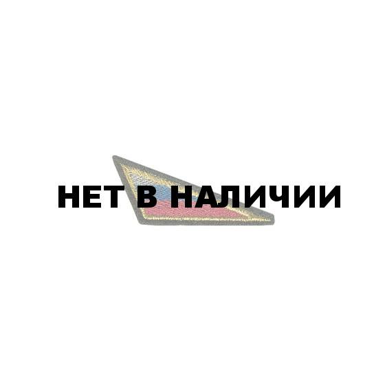 Нашивка на берет Флаг РФ треугольный большой вышивка шелк
