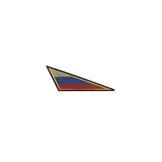 Нашивка на берет Флаг РФ треугольный малый вышивка шелк