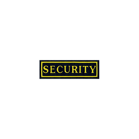 Нашивка на грудь SECURITY желтый шрифт вышивка шелк