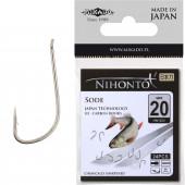 Крючки Mikado NIHONTO - SODE № 12 BR (с лопаткой) 23 шт.