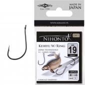 Крючки Mikado NIHONTO - KEIRYU W/RING № 8 BN (с ушком) 14 шт.