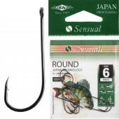 Крючки Mikado SENSUAL - ROUND № 6 BN (с ушком) 10 шт.