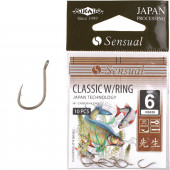 Крючки Mikado SENSUAL - CLASSIC W/RING № 12 LBR (с ушком) 10 шт.