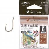 Крючки Mikado SENSUAL - CLASSIC W/RING № 14 LBR (с ушком) 10 шт.
