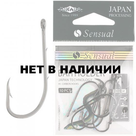 Крючки Mikado SENSUAL - BAITHOLDER № 4 BN (с ушком) 10 шт.