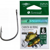 Крючки Mikado SENSUAL - CHINTA W/RING № 8 BN (с ушком) 10 шт.