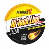 Леска Helios Hi-tech Line Nylon Fluorescent Yellow 0,28 мм/100