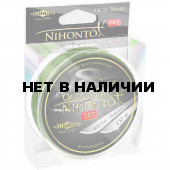 Шнур плетеный Mikado NIHONTO OCTA BRAID 0,10 green (150 м) - 7.75 кг.