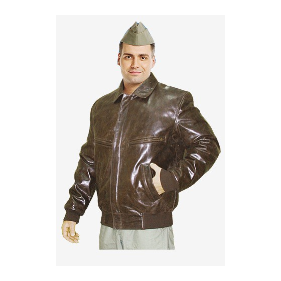 Куртка Пилот кожаная укороченная