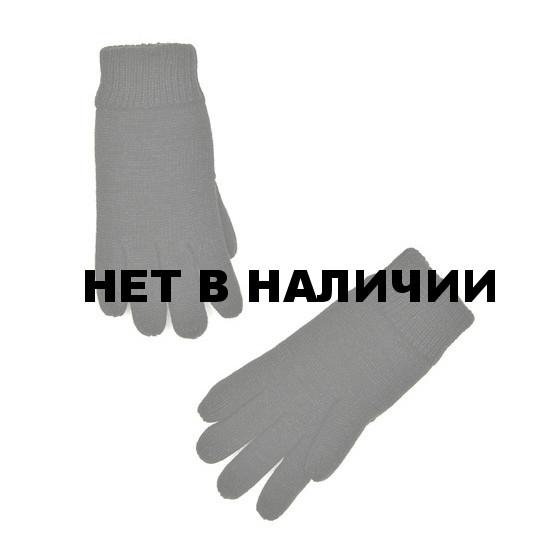 Перчатки вязаные с флисовой подкладкой черные