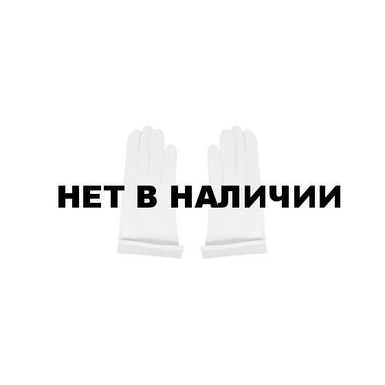 Перчатки белые кожаные без подкладки