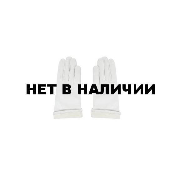 Перчатки белые кожаные с трикотажной подкладкой