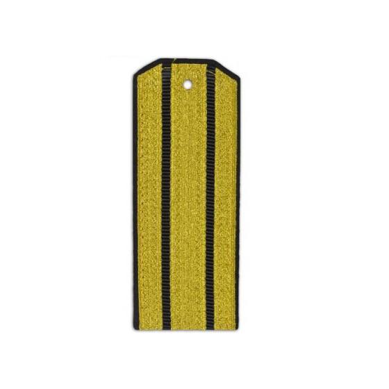 Погоны парадные ВМФ с 2 черными просветами