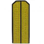 Погоны парадные ВМФ с 1 черным просветом