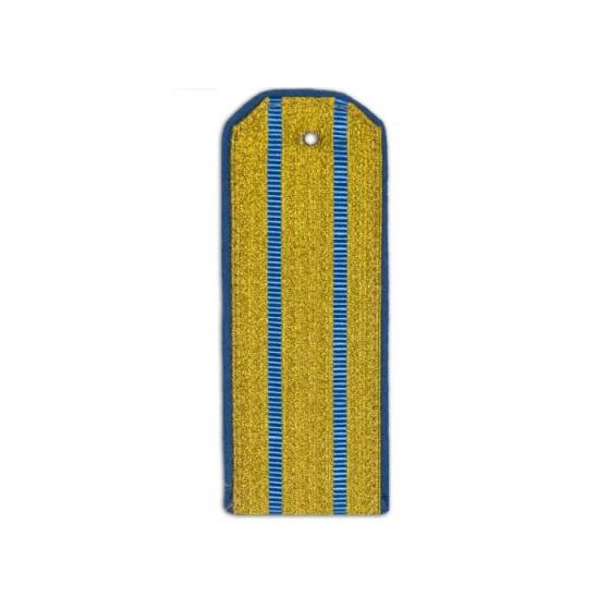 Погоны ВВС-ВДВ парадные с 2 голубыми просветами