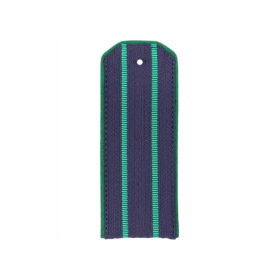 Погоны Прокуратуры синие с зеленой окантовкой с 2 зелеными просветами