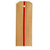 Погоны Морской пехоты кремовые с 1 красным просветом