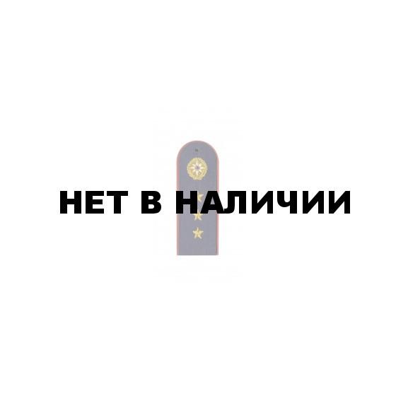 Погоны МЧС вышитые синие старш. прапорщик.(3 звез.мал)