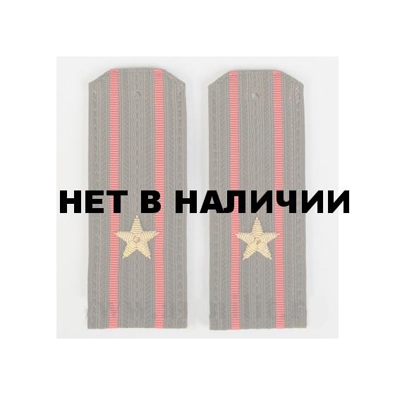 Погоны МО майор с вышитыми звездами(канитель)