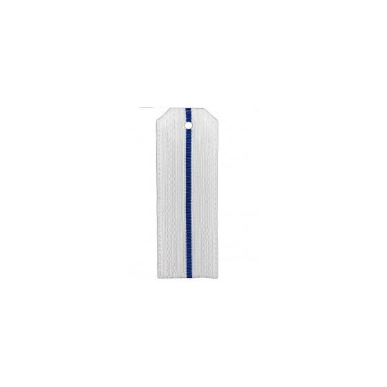 Погоны ВВС-ВДВ белые с 1 голубым просветом