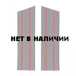 Погоны МО на шинель серого цвета с 2 красными просветами (пара)