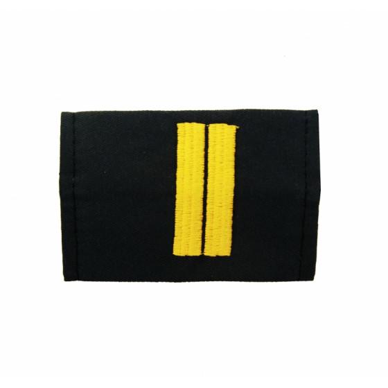 Фальшпогоны без липучки МВД Полиция Младший сержант вышивка шелк