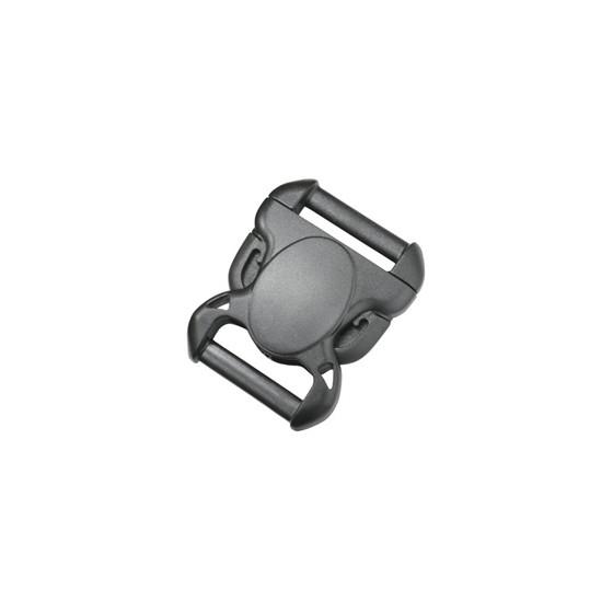 Пряжка фастекс 38 мм 1-11046/1-20046 (2 части) без регулировки черный Duraflex