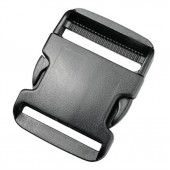 Пряжка фастекс 50 мм 1-15433/1-05432 (2 части) две регулировки черный Duraflex