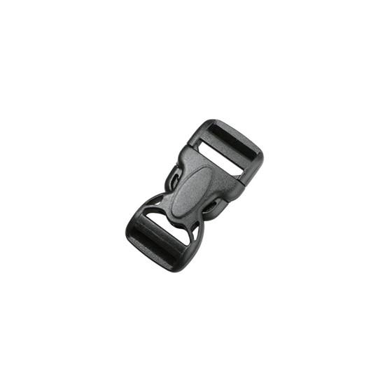 Пряжка фастекс 38 мм 1-07606/1-07608 (2 части) две регулировки черный Duraflex