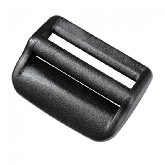 Пряжка двухщелевая регулировочная 38 мм 1-07723 черный Duraflex
