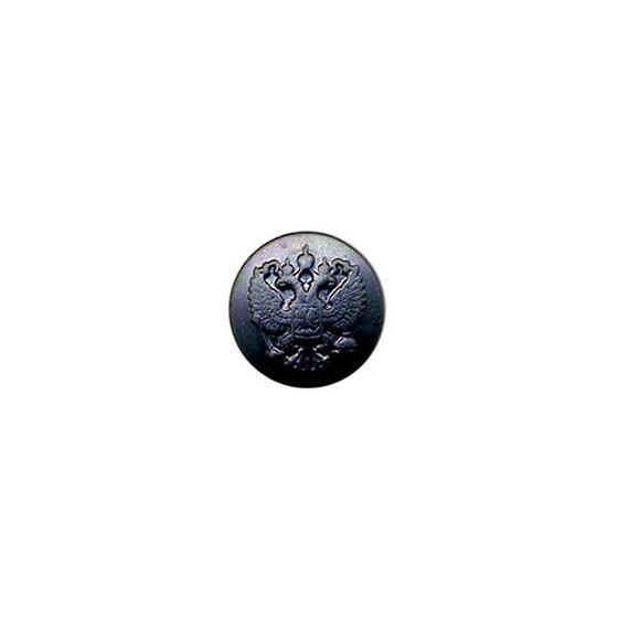 Пуговица диам. 22мм чёрная без ободка металл