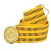 Ремень парадный офицерский желтый шелковый (пряжка с орлом)