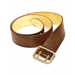 Ремень офицерский с двухшпеньковой пряжкой коричневый натуральная кожа