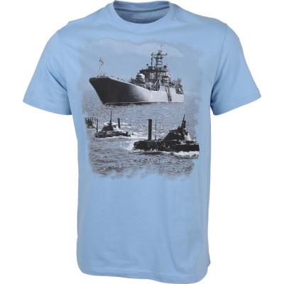 Футболка сувенирная Морская пехота голубая