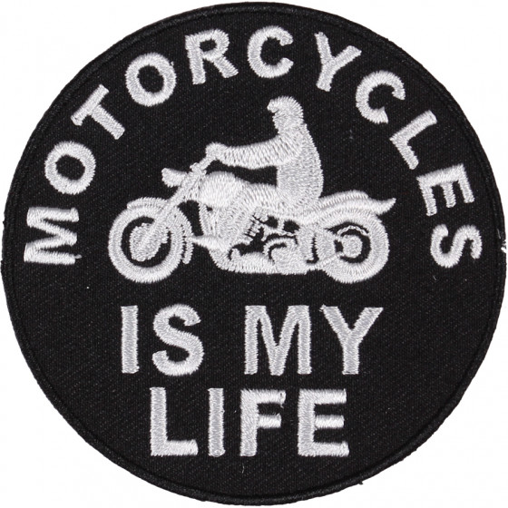 Термонаклейка -17911194 Мотоциклы моя жизнь вышивка