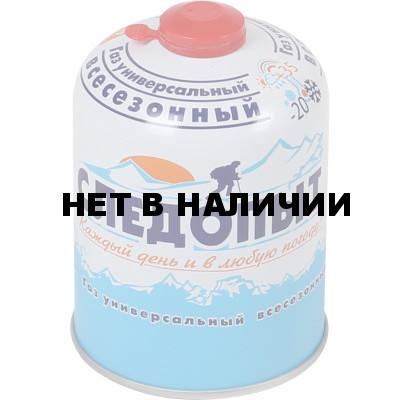 Баллон газовый «СЛЕДОПЫТ» 450 г, резьб., (всесезонный)