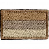 Нашивка на рукав с липучкой Флаг РФ 35х55 мм цвет песочный вышивка шёлк