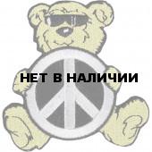 Термонаклейка -0740 Медвежонок пацифист вышивка