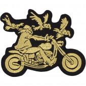 Термонаклейка -18371195 Байкер с орлами вышивка