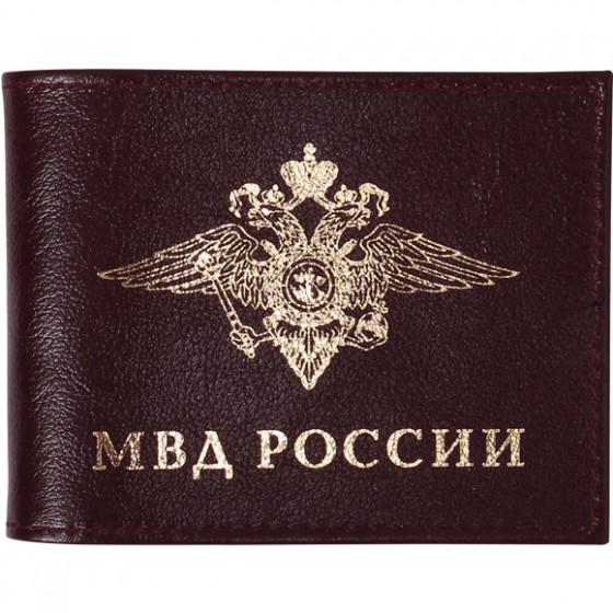 Обложка с карманом МВД России кожа