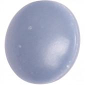 Пуговица диам. 14мм на ножке голубая полиамид