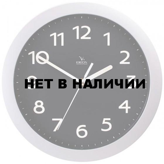 Настенные часы Вега П 1-серебро/6-212