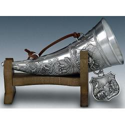 Рог для напитков на деревянной подставке Artina SKS 12612