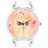 Наручные часы унисекс Miusli Cat and butterfly white