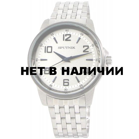 Мужские наручные часы Спутник М-996620/1.3 (сталь,синее оф.)