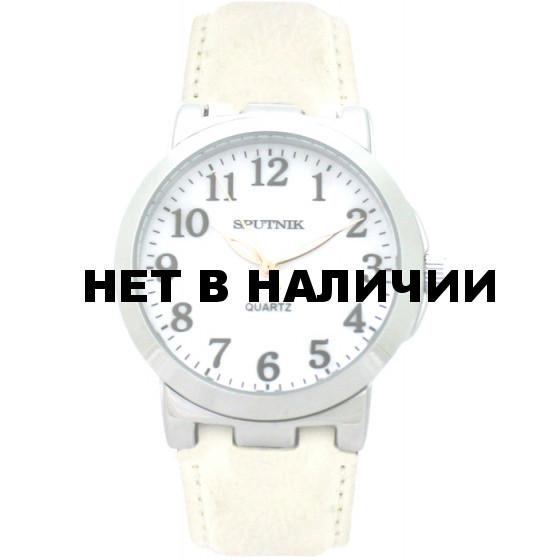Женские наручные часы Спутник Л-201010/1 (перл.) б.р.