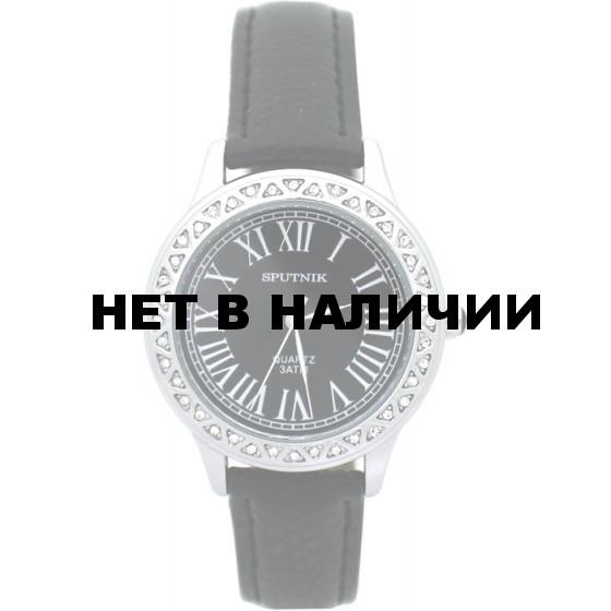 Женские наручные часы Спутник Л-300331/1 (черн.) ч.р.