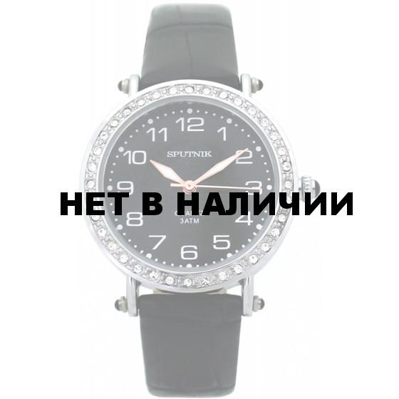 Женские наручные часы Спутник Л-300700/1 (черн.) ч.р.