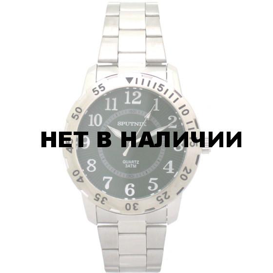 Мужские наручные часы Спутник М-996690/1 (зел.)