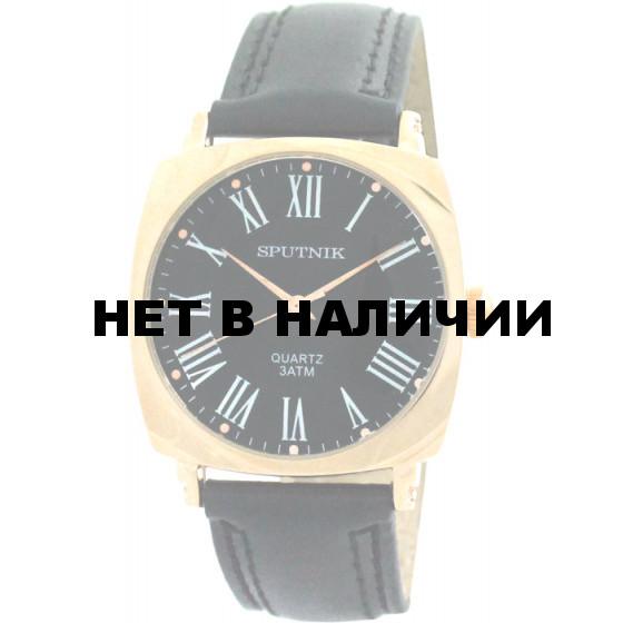 Мужские наручные часы Спутник М-858011/8 (черн.)